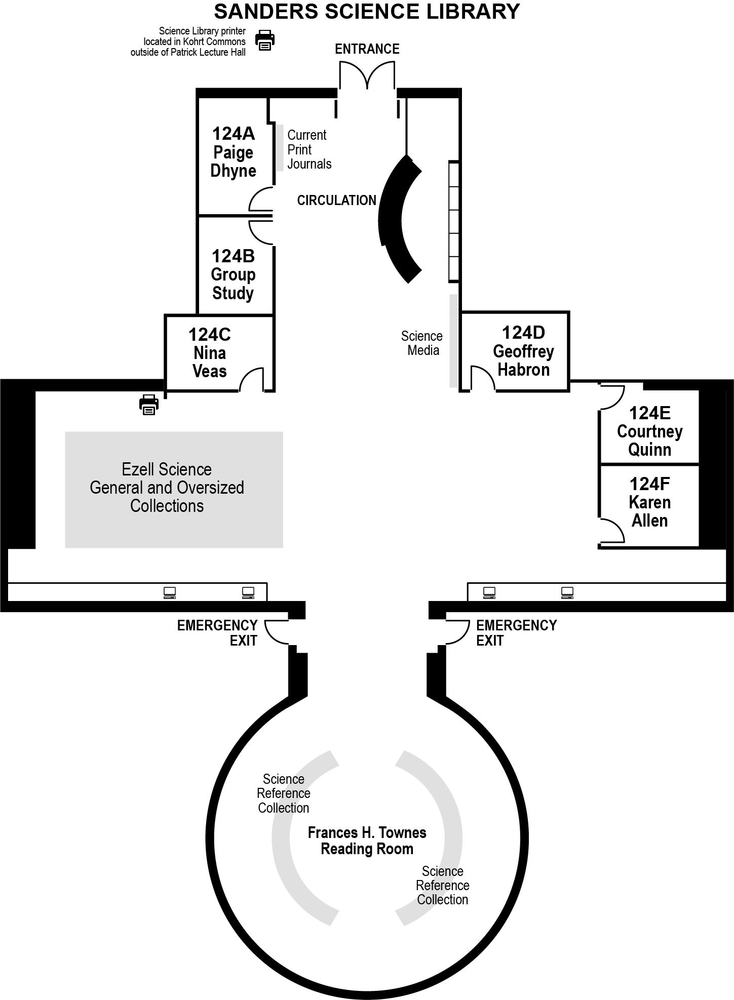 Science Library Floor Plan