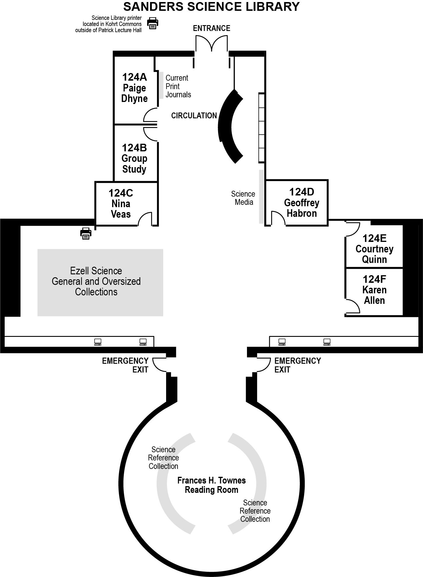 Science Library Floor Plan