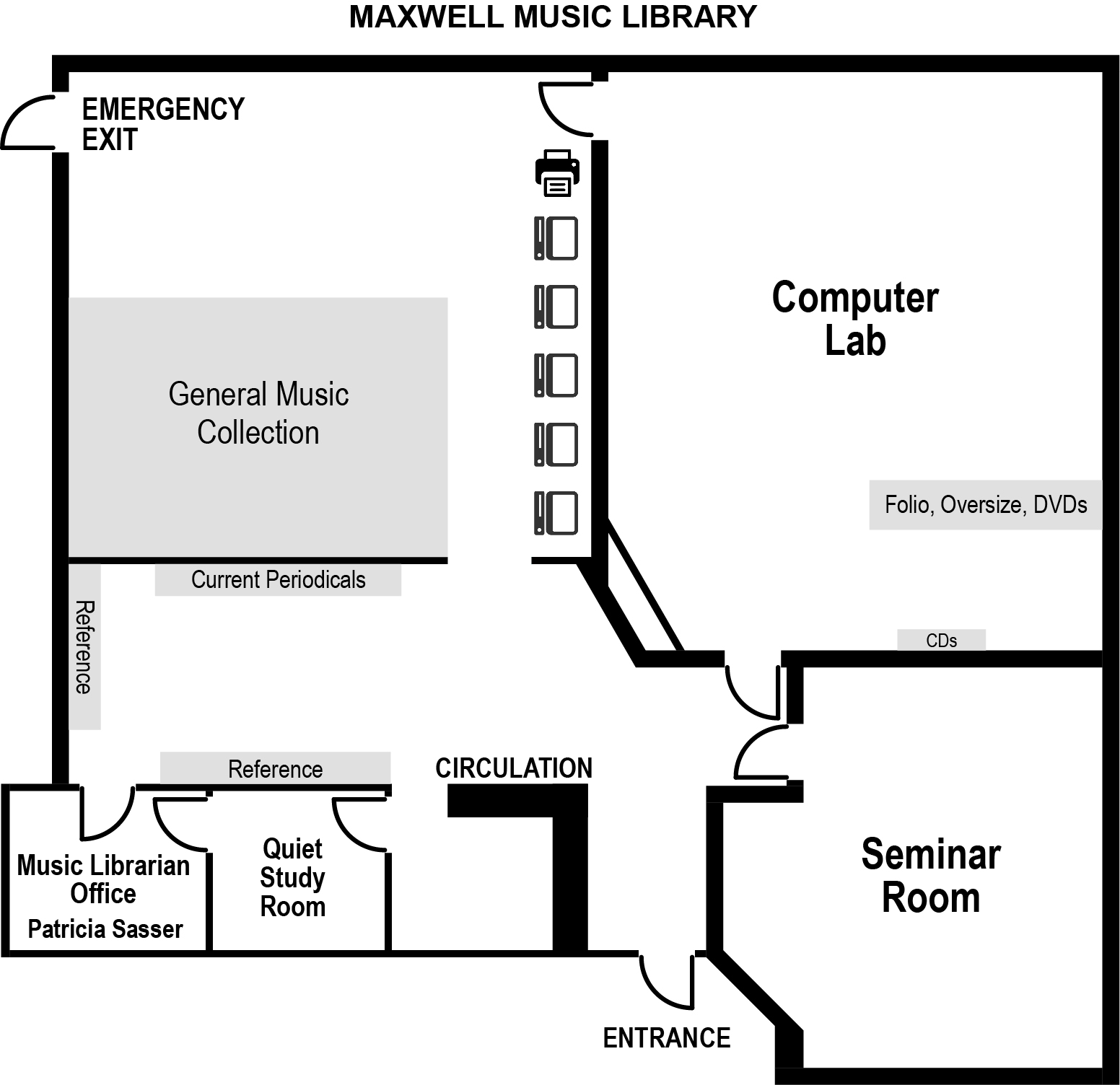 Music Library Floor Plan